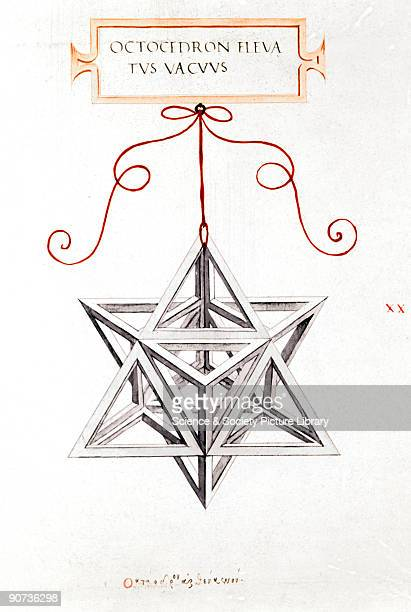 Da Vinci's Octahedron 1509 This drawing is by Leonardo da Vinci and is an illustration to the work 'De Divina Proportione' by Luca Pacioli published...