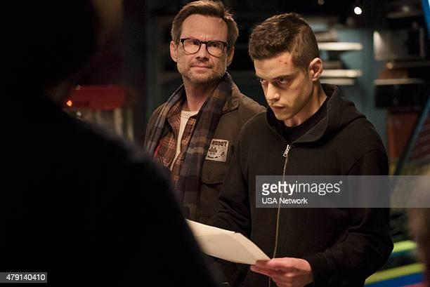 MR ROBOT 'da3m0nsmp4' Episode 104 Pictured Christian Slater as Mr Robot Rami Malek as Elliot