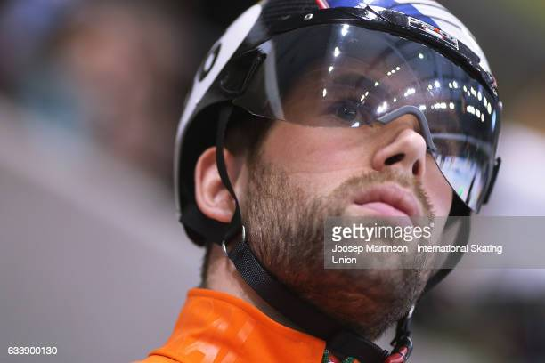 Daan Breeuwsma of Netherlands prepares for the Men's 500m quarter final during day two of the ISU World Cup Short Track at EnergieVerbund Arena on...