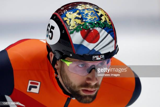 Daan Breeuwsma of The Netherlands during the ISU European Championship Shorttrack at the Sportboulevard Dordrecht on January 12 2019 in Dordrecht...