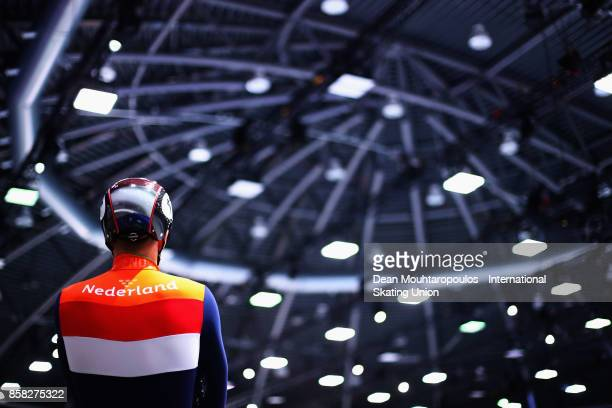 Daan Breeuwsma of the Netherlands looks on before he competes in the Mens 1000m Preliminaries during the Audi ISU World Cup Short Track Speed Skating...