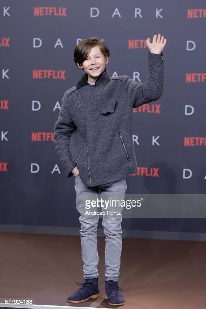 Daan Lennard Liebrenz attends the premiere of the first German Netflix series 'Dark' at Zoo Palast on November 20 2017 in Berlin Germany