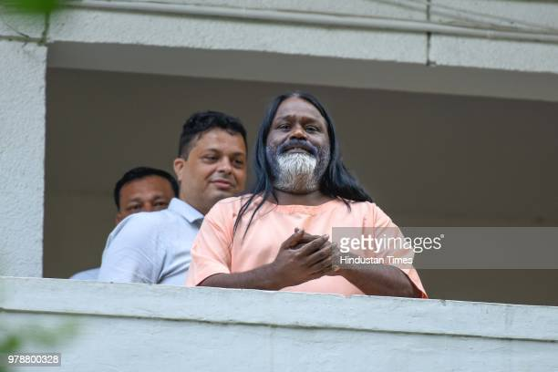 Daati Maharaj a selfstyled godman who has been allegedly accused of rape reached Delhi Police Crime Branch office to join investigation in the...