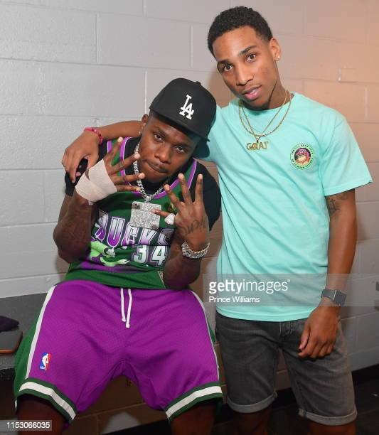 DaBaby and Fly Guy DC backstage at DaBaby In Concert Atlanta at Center Stage on May 31 2019 in Atlanta Georgia