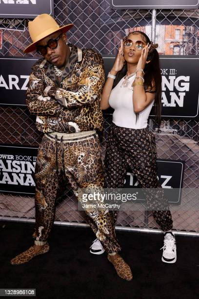 DaBaby and Kayykilo attend 'Power Book III: Raising Kanan' global premiere event and screening at Hammerstein Ballroom on July 15, 2021 in New York...