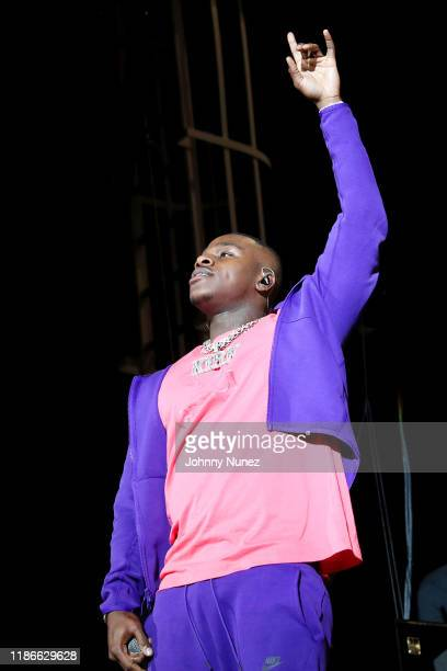 DaBaby performs onstage as philanthropist and attorney Thomas J Henry launches new art and music experience Austin Elevates at Austin 360...