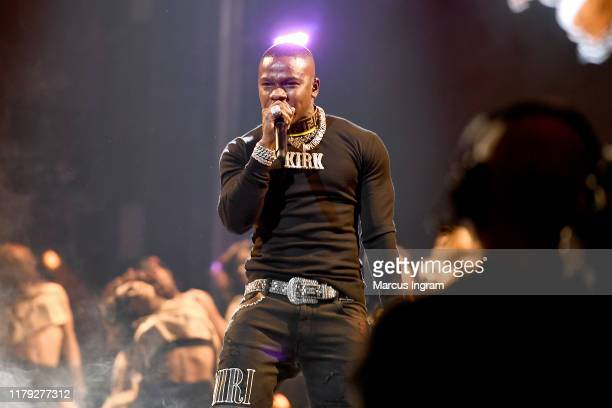 DaBaby performs onstage at the BET Hip Hop Awards 2019 at Cobb Energy Center on October 05 2019 in Atlanta Georgia