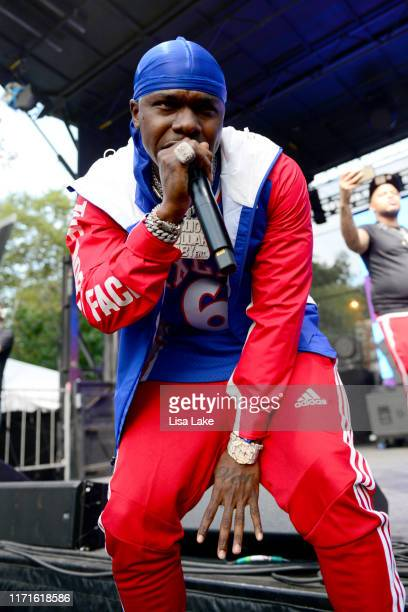 PHILADELPHIA PENNSYLVANIA SEPTEMBER 01 Dababy performs onstage during Made In America Day 2 at Benjamin Franklin Parkway on September 01 2019 in...