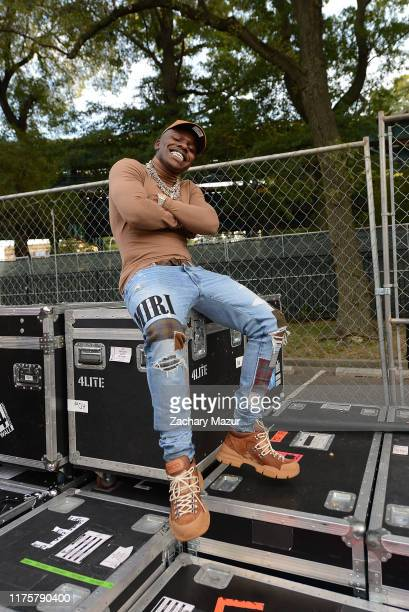 DaBaby poses backstage during Day 2 of the 2019 Rolling Loud Festival at Citi Field on OCtober 13 2019 in New York City