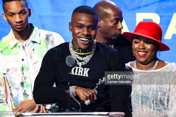 DaBaby speaks onstage at the BET Hip Hop Awards 2019 at Cobb Energy Center on October 5 2019 in Atlanta Georgia