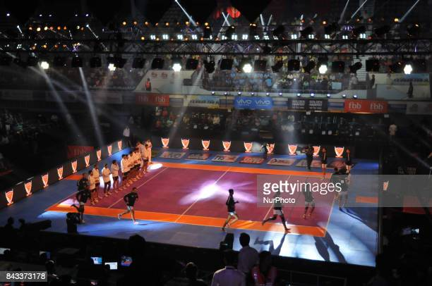 Dabang Delhi vs Bengaluru Bulls at the Pro Kabaddi on September 062017 in Kolkata Netaji Indoor StadiumPhoto by Debajyoti ChakrabortyKolkataIndia...