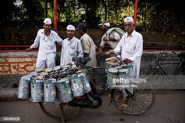 Dabbawallahs (tiffinwallahs) delivering food