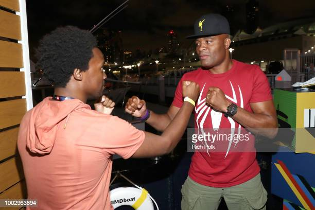 Dabier Snell and Anderson Silva attend the #IMDboat Party At San Diego ComicCon 2018 Sponsored By Atom Tickets at The IMDb Yacht on July 20 2018 in...
