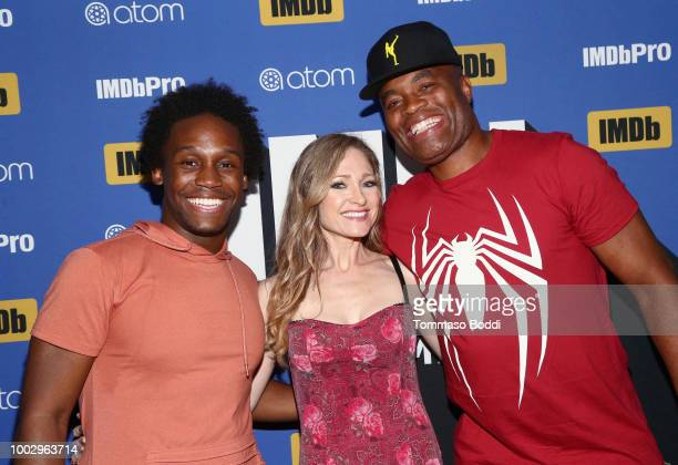 Dabier Snell Julie Nathanson and Anderson Silva attend the #IMDboat Party At San Diego ComicCon 2018 Sponsored By Atom Tickets at The IMDb Yacht on...