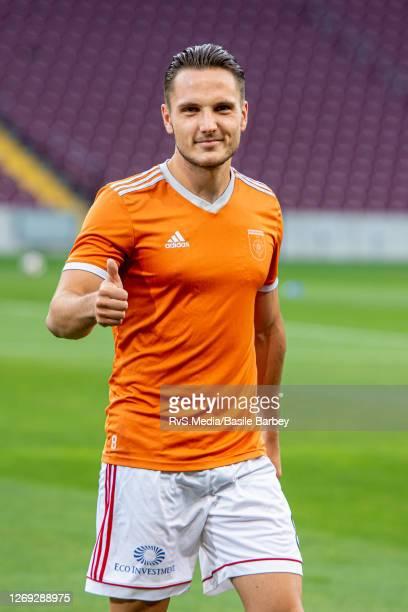 Dabolir Takac of MFK Ruzomberok looks on prior the UEFA Europa League qualification match between Servette FC and MFK Ruzomberok at Stade de Geneve...