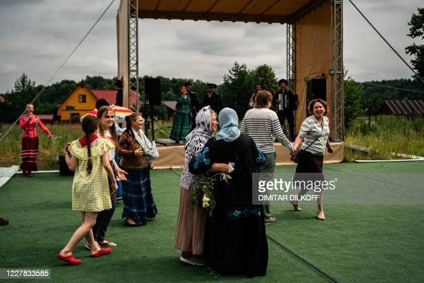 Dacha dwellers participate in a Cossackled workshop in the village of Alyaukhovo some 60 kilometres east of Moscow on July 8 2020 Russians stuck at...