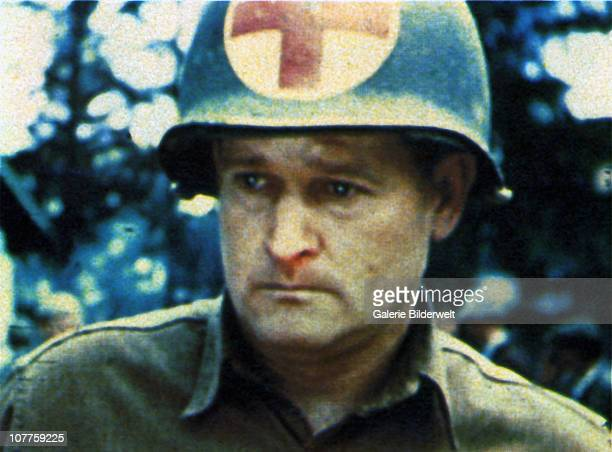 Dachau Concentration Camp A GI from the US Army Medical Corps after liberation of the camp by the 42nd Rainbow Division and the 45th Thunderbird...