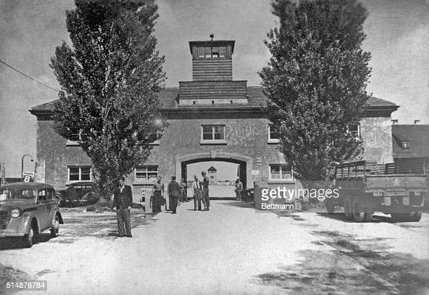 Exterior view of a building at Dachau Concentration Camp Photo by Heinrich Weingland