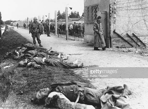 Dachau the most infamous Nazi concentration camp of all has been overrun by men of the 42nd Rainbow Division of the 7th army Scenes of appalling...