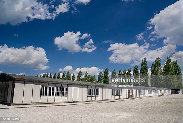 Dachau World War II Nazi Concentration Camp Memorial Site reconstructed prisoner barracks
