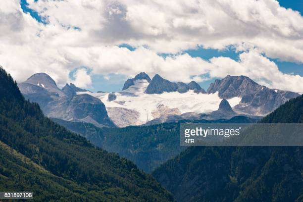 ダッハシュタイン、氷河の融解、2017 年 8 月、オーストリア - retreating ストックフォトと画像