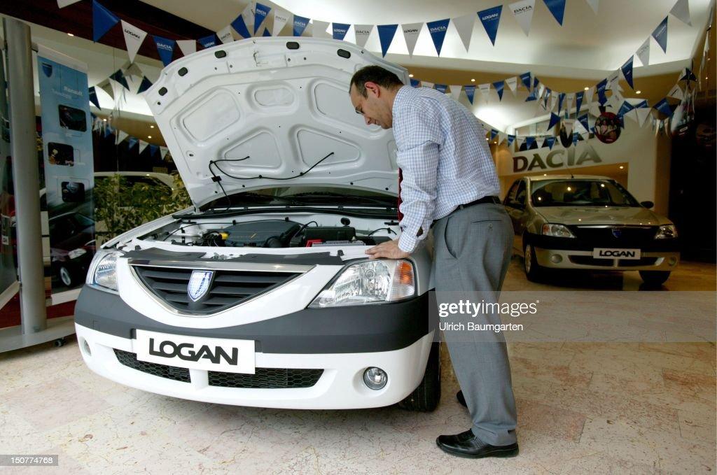 Dacia Logan A 5000 Euro Car In The Show Room Of A Car Dealer News
