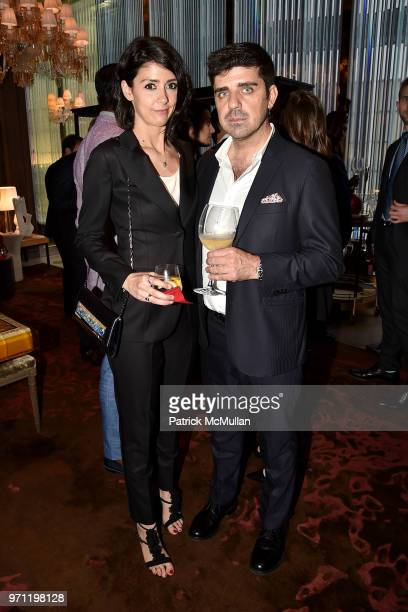 Dacia Saporito and Fabio Paparelli attend Christopher R King Debuts New Luxury Brand CCCXXXIII at Baccarat Hotel on June 5 2018 in New York City