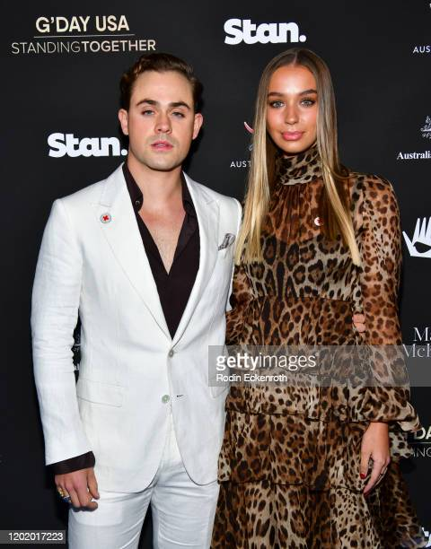 Dacre Montgomery and Liv Pollock attend G'Day USA 2020   Standing Together Dinner at the Beverly Wilshire Four Seasons Hotel on January 25 2020 in...