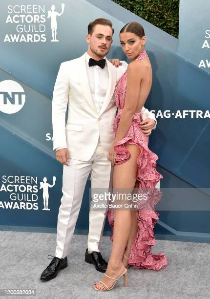 Dacre Montgomery and Liv Pollock attend the 26th Annual Screen Actors Guild Awards at The Shrine Auditorium on January 19 2020 in Los Angeles...