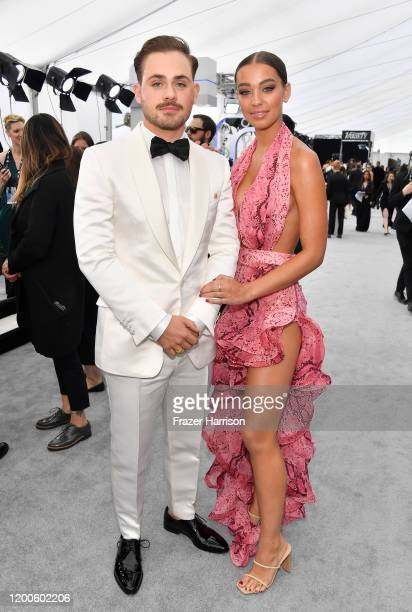 Dacre Montgomery and Liv Pollock attend the 26th Annual Screen ActorsGuild Awards at The Shrine Auditorium on January 19 2020 in Los Angeles...