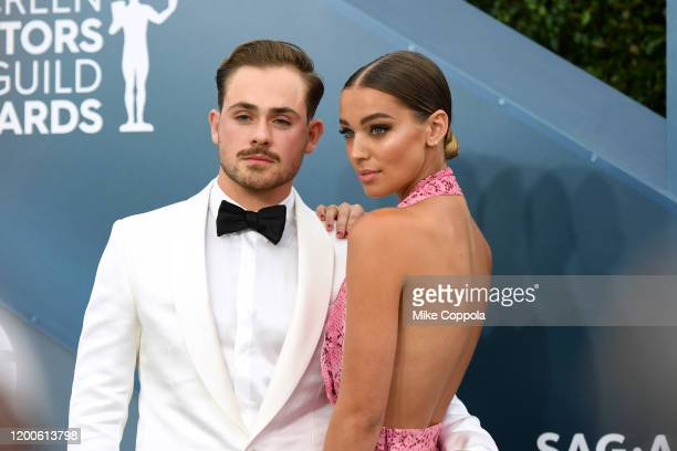 Dacre Montgomery and Liv Pollock attends the 26th Annual Screen ActorsGuild Awards at The Shrine Auditorium on January 19 2020 in Los Angeles...