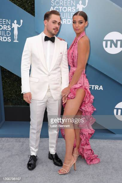 Dacre Montgomery and Olivia Pollock attend 26th Annual Screen Actors Guild Awards at The Shrine Auditorium on January 19 2020 in Los Angeles...