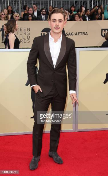 Dacre Montgomery arrives at the 24th Annual Screen Actors Guild Awards at The Shrine Auditorium on January 21 2018 in Los Angeles California