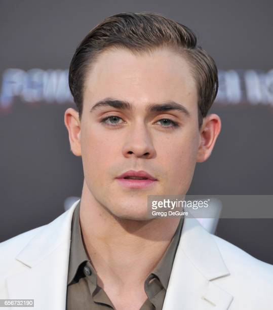 Dacre Montgomery arrives at the premiere of Lionsgate's Power Rangers at The Village Theatre on March 22 2017 in Westwood California