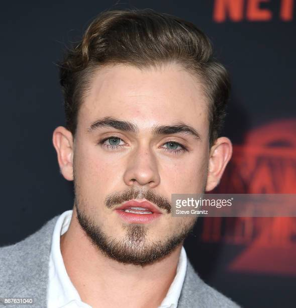 Dacre Montgomery arrives at the Premiere Of Netflix's 'Stranger Things' Season 2 at Regency Bruin Theatre on October 26 2017 in Los Angeles California