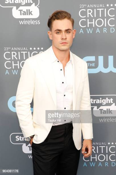 Dacre Montgomery attends the 23rd Annual Critics' Choice Awards at Barker Hangar on January 11 2018 in Santa Monica California