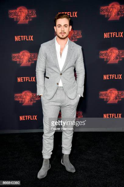 Dacre Montgomery attends the premiere of Netflix's 'Stranger Things' Season 2 at Regency Bruin Theatre on October 26 2017 in Los Angeles California