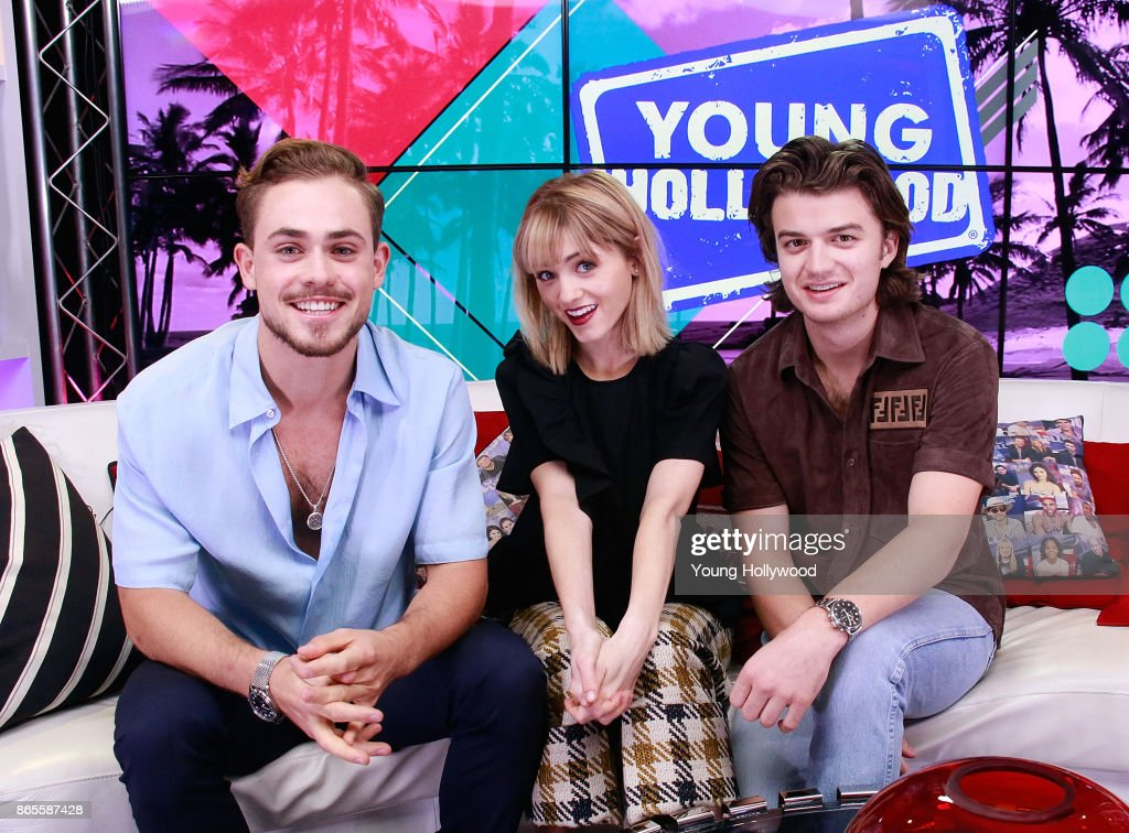 """Cast Of """"Stranger Things"""" Visits Young Hollywood Studio : News Photo"""