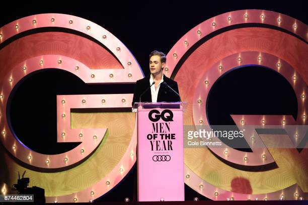 Dacre Montgomery the award for Actor of the Year during the GQ Men Of The Year Awards Ceremony at The Star on November 15 2017 in Sydney Australia