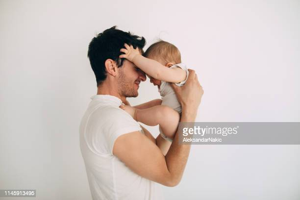 dad and baby boy - father stock pictures, royalty-free photos & images