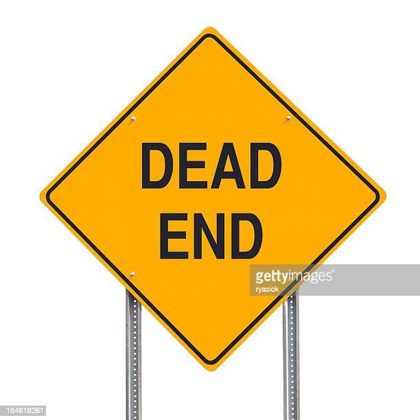 Dad End Road Sign Isolated