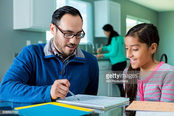 Dad homeschools pre-teen daughter
