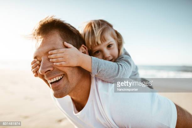 dad is flying with the son - family with one child stock pictures, royalty-free photos & images