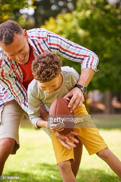 Dad isn't taking him down!