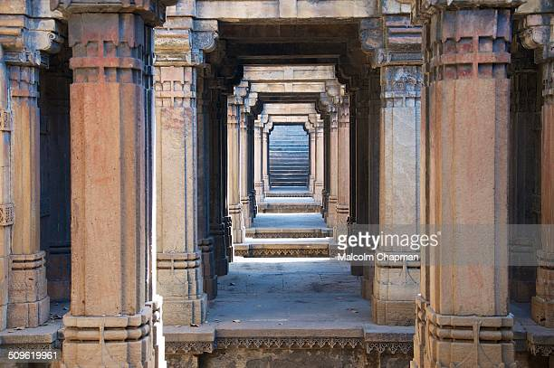 Dada Hari Vav Stepwell Ahmedabad Gujarat India Dada Harir Vav is a stepwell built by Sultan Bai Harir around 1500 AD this stone carved monument is...