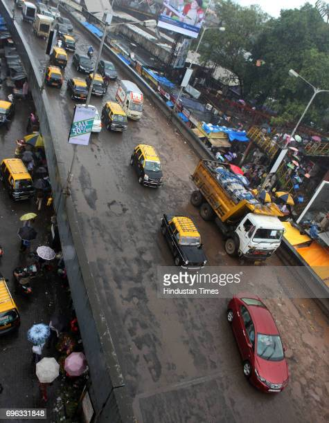 Dadar flyover on Tulsi Pipe road is filled with potholes