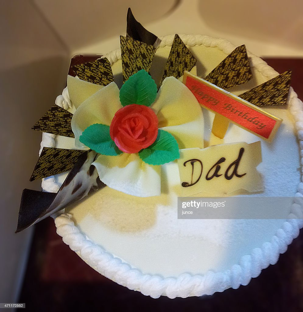 Super Daddy Birthday Cake High Res Stock Photo Getty Images Funny Birthday Cards Online Elaedamsfinfo