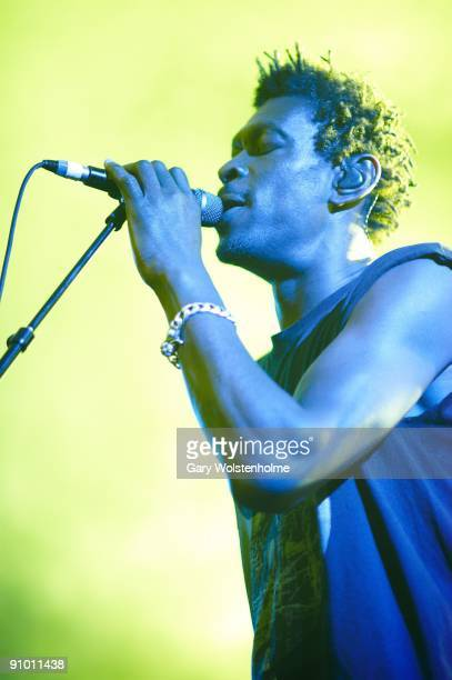 Daddy G of Massive Attack performs on stage at the Academy on September 21 2009 in Sheffield England
