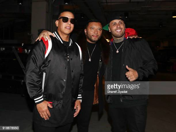 Daddy Yankee Alex Sensation and Nicky Jam attend Romeo Santos In Concert at Madison Square Garden on February 15 2018 in New York City