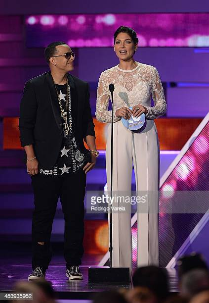 Daddy Yankee and Blanca Soto attend Premios Tu Mundo Awards>> at American Airlines Arena on August 21 2014 in Miami Florida